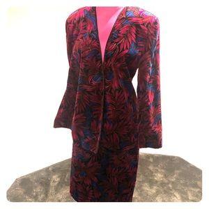 Vintage velvet blazer and skirt